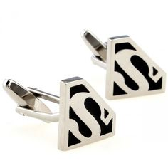 Funny Black and White Superman Cufflinks