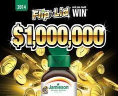 Jamieson Flip the Lid to Win 1 Million Contest