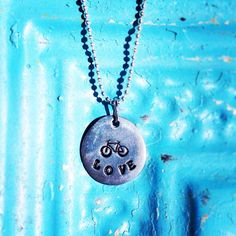 Bicycle Necklace Free Shipping in US bike charm fixie by moesart