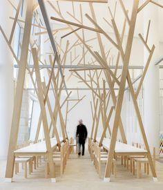 canteen space designed by Estudio Nomada
