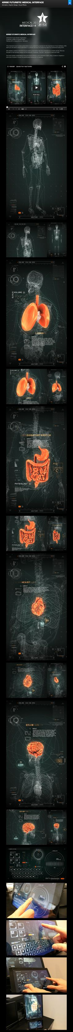 FUTURISTIC MEDICAL INTERFACE by 2RISE