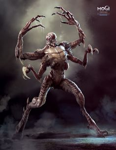 ArtStation - Creature from the sewers, MoGi Group Monster Concept Art, Alien Concept Art, Creature Concept Art, Monster Art, Creature Design, Fantasy Demon, Fantasy Monster, Dark Fantasy Art, Alien Creatures