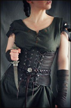 Gowns Pagan Wicca Witch: Medieval huntress #costume.