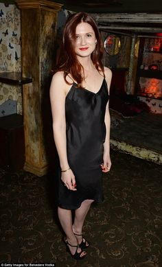 From Ginny Weasley to drop-dead gorgeous: Bonnie Wright wowed in a satin LBD as she celebr...