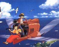 """""""Laputa, Castle in the Sky"""" (""""El castillo en el cielo"""", de Hayao Miyazaki. Studio Ghibli)."""