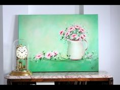 """""""Romantic Flowers"""" - Still Life (Oil) - Step by Step Romantic Flowers, Painting Techniques, Oil Paintings, Diy Art, Still Life, Arts And Crafts, Canvas, Drawings, Artwork"""