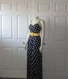 SALE Vintage 80s Jumpsuit Avon Fashion Palazzo Wide Leg One Piece Polka Dots Black & White size 11 / 12 Modern Medium to Large