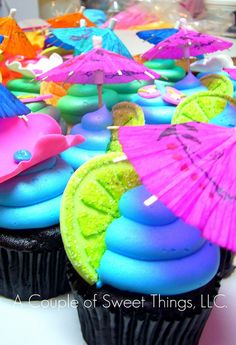 Hawaiian Cupcakes by A Couple of Sweet Things, via Flickr