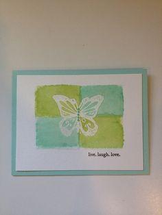 Spring -butterfly emboss