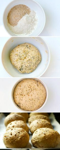 The process of making 5 seed healthy homemade buns