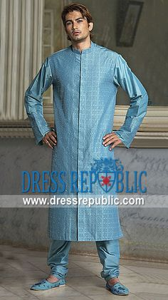 Style DRM1184, Product code: DRM1184, by www.dressrepublic.com - Keywords: Mens Kurta Salwar Fashion in 2013 Mens Shalwar Kameez Fashion in 2013 EID