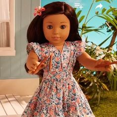 "Nanea! From (@mini.mad.american.girl) on Instagram: ""Why is Nanea so cute!?! I don't have room for more dolls!  I definitely need that dress, though! …"""