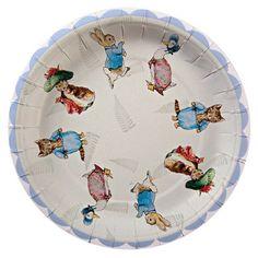 "Peter Rabbit Baby Shower Plates - 7"""