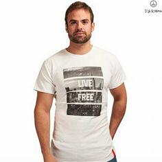 "T-shirt Avintage ""Live Free"""