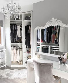 Hello Monday, Dressing Rooms, Dressing Table, Makeup Rooms, Beauty Room,  Master Bedroom, Bedroom Decor, Bedroom Ideas, Closet Ideas, Mirrors, Yurts,  ...