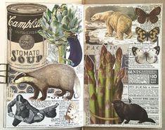 Glue Book, Collage Art Mixed Media, Planner Layout, Rose Art, Next Week, Smash Book, Book Pages, Art Journals, Junk Journal