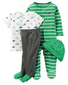This babysoft cotton set is complete with a sleep & play plus a matching tee, pants and cap to keep him cuddly from head to toe. A perfect gift for his first days home.