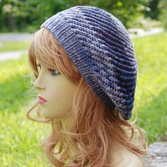 The Manchester Slouch is a quick, simple hat I designed for my mannequin to wear…