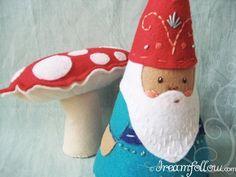 $5.00 felt embroidered NOM gnome doll PDF pattern, via littledear on Etsy.