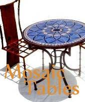 Mosaic tables, mosaic bistro table, moroccan mosaic bar table, mosaic table top, mosaic tile table top $650.00