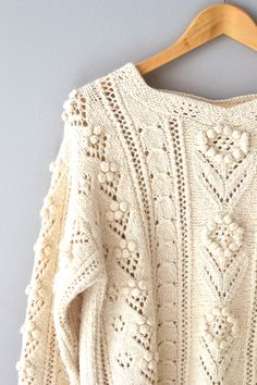 cream knit sweater / cream sweater / Dashwood by DearGolden