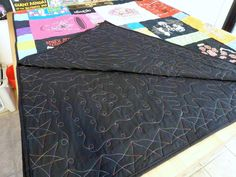 The back of a tshirt quilt