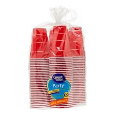 Great Value Party Cups, 18 oz, 120 Count, Red Nestle Drumstick, Hurricane Party, Walmart Kids, Got Party, Us Cup, Disposable Cups, Bathroom Design Small, Bathroom Designs, Easy Entertaining