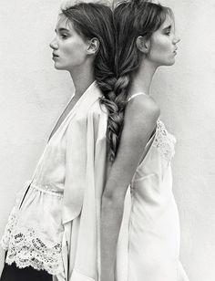 Amalie Moosgaard & Cecilie Moosgaard for Numero February 2016 - Page 2 | The Fashionography