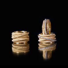 Yellow Gold & Diamond Five Strand Woven Ring Gold Diamond Band, Diamond Jewelry, Silver Jewelry, Fine Jewelry, Jewelry Rings, Emerald Diamond, Silver Earrings, Diamond Earrings, Jewellery