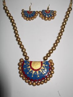 Terracotta #necklace #jewellery for traditional look at #craftshopsindia