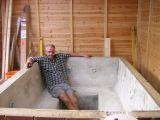 how to make a concrete hot tub