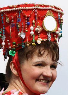 Traditional Finnish wedding headwear