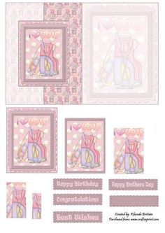 I Love Golf Foldback on Craftsuprint designed by Rhonda Brittain - This card is for the golf lover. To view more of my designs please click on my name above - Now available for download!