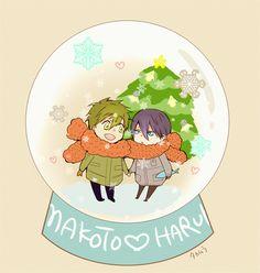 Merry Christmas ...  Free! - Iwatobi Swim Club, free!, iwatobi, makoto tachibana, makoto, tachibana, haruka nanase, haru nanase, haru, haruka, nanase