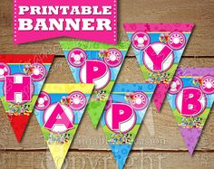 PRINTABLE Minnie Mouse Clubhouse Birthday Pennant Banner, Clubhouse Banner, Minnie Mouse Banner, Mickey Mouse Donald Duck Daffy Duck