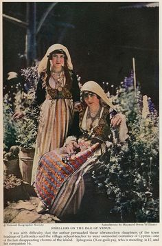 Cyprus 1928women costumes Photographs Of People, Vintage Photographs, Vintage Photos, South Cyprus, Cyprus Island, Cyprus Greece, Old Greek, Wild Weather, National Geographic