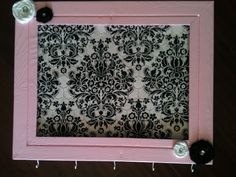 how to make baby headband holder from picture frame - Google Search
