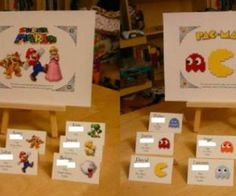 Avatar Place Cards for a Geeky, Gamey Wedding