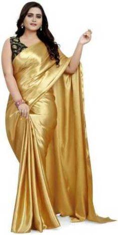 Indian Blouse, Indian Ethnic Wear, Indian Sarees, Pakistani, Drape Sarees, Silk Sarees, Satin Saree, Silk Satin, Floral Print Sarees