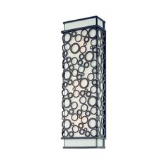 Modern Sconce Wall Light with White Glass in French Iron Finish at Destination Lighting