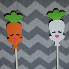 Shopkins carrots cupcake toppers!