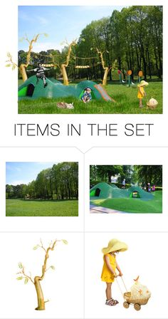 """""""Playground"""" by eliza-redkina ❤ liked on Polyvore featuring art, nature, landscape, artset, playground and artexpression"""