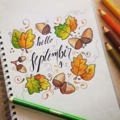 Bullet journal September leaves and acorns Buy diamonds Article Body: Diamond is one of the rare and Doodle Bullet Journal, Bullet Journal Cover Page, Bullet Journal 2019, Bullet Journal Notebook, Bullet Journal Ideas Pages, Bullet Journal Layout, Journal Covers, Bullet Journal Inspiration, Book Journal