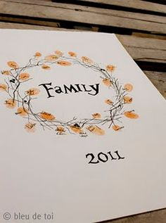family fingerprint wreath