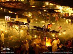 Night Food Market, Marrakesh, Morroco, Photo by Ben Carron-steamedartichokes.blogpspot.com