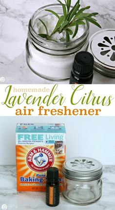 Homemade Air Freshener | Two ways I keep my bathrooms fresh and clean. Come see! Keep your home fresh smelling with this DIY baking soda air freshener. See the tutorial on TodaysCreativelife.com
