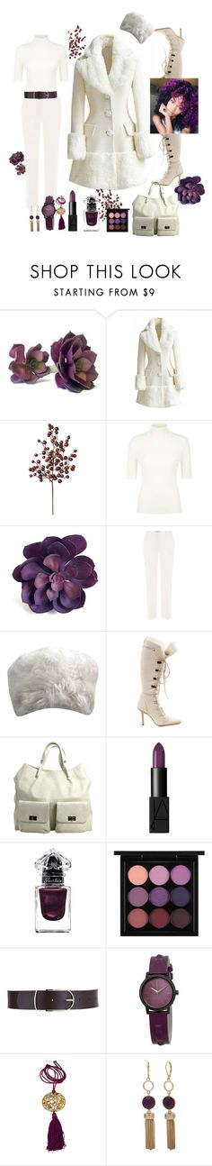 """Winter White and Berry"" by babygirltrice ❤ liked on Polyvore featuring Frontgate, Valentino, Etro, Gucci, Chanel, NARS Cosmetics, Guerlain, MAC Cosmetics, Maison Boinet and Nixon"