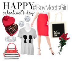"""Valentine's Day with BMG!"" by boymeetsgirlusa ❤ liked on Polyvore featuring BCBGMAXAZRIA, Godiva, Kobelli, Boy Meets Girl, Hanky Panky, Kate Spade, women's clothing, women, female and woman"