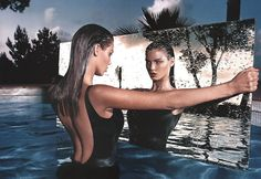 'The Pool Side Story' photographed by Mert and Marcus, model Angela Lindvall​.