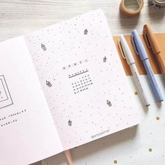 Looking for theme ideas for April? Check out these 15+ cover pages to inspire your Bullet Journal setup. Plus check out my April 2021 Plan With Me. Check my pages: cover page, monthly log, habit tracker, mood tracker, and more. As well as a photo of my new puppy! April Bullet Journal, Bullet Journal Themes, Bullet Journal Inspiration, Journal Ideas, Bullet Journal Decoration, Bullet Journal Aesthetic, Mood Tracker, Cover Pages, Notes